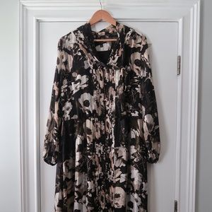 Banana Republic Floral Dress Sz L